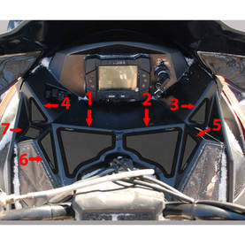 SPI Frogzskin Polaris Rush/Switchback/RMK 2010-14 Air Box Intake Vent Kit, 5kpl - Ilmastointikalvot - 823-182-100 - 1
