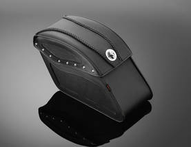 Highway Hawk saddlebags TEK leather with LOCK -  - 561-02-2802 - 1