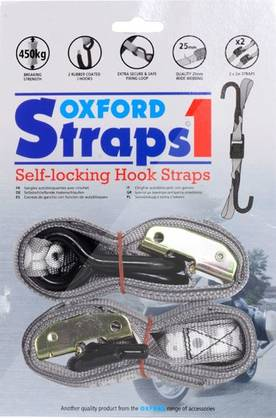 Oxford Straps (tie downs) Silver - Hinaus ja kuormansidonta - 362-OF92 - 1