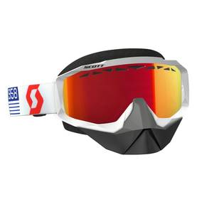 Scott Goggle Hustle Snow Cross white/red amplifier red chrome -  - 620-0502-3 - 1