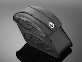 Highway Hawk saddlebags TEK leather with LOCK -  - 561-02-2804 - 1