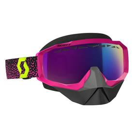 Scott Goggle Hustle Snow Cross lila/yellow amplifier teal chrome -  - 620-0502-4 - 1