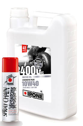 Ipone R4000RS 10W40 4L+chainspray 250ml - 4T Moottoriöljyt - 55-124-S - 1